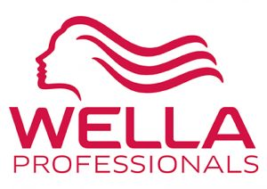 wella professionals logo red on white background