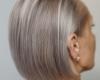 ash blond short hair color